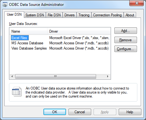 Screenshot: Connecting to SQL Server