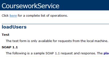 Screenshot: Web service test form missing