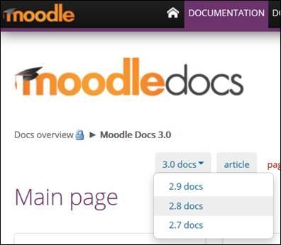 Moodle Docs 2.8 Selection