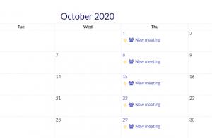 Calendar view multiple events