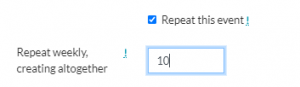 Repeat event option