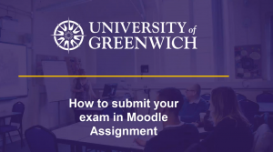 Videos on how to submit your exam in Moodle