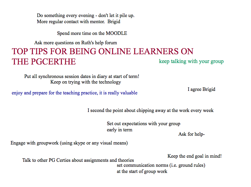 Tips from 2013/2014 cohort